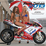 Fast Dates World Superbike MotoGP roadracing swimsuit model calendar