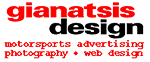 Gianatsis Design Associates motorsports and fashion advertsing design service