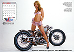 Shinya Kimuram Andra Cobb, custom motorcycle, pinup, model
