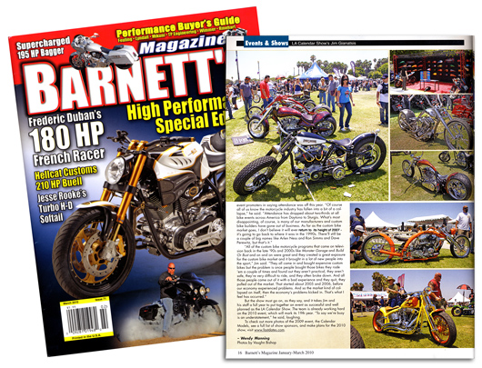 Barnetts magazine 2009 LA Calednar Motorcycle Show coverage