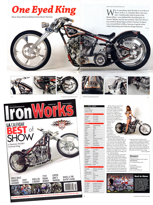 LA Calendar Motorcycle show feture in Iron Works magazine