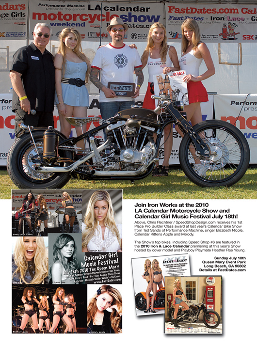 Chris Fletchner Spped Shop Design LA Calendar Motorcycle Show winner