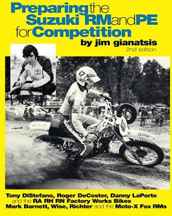Preparing the Yamaha YZ and IT for Competiton, classic  dirt bike motocross performance book, hand, book, manual, Riding with the hurricane Bob Hannah