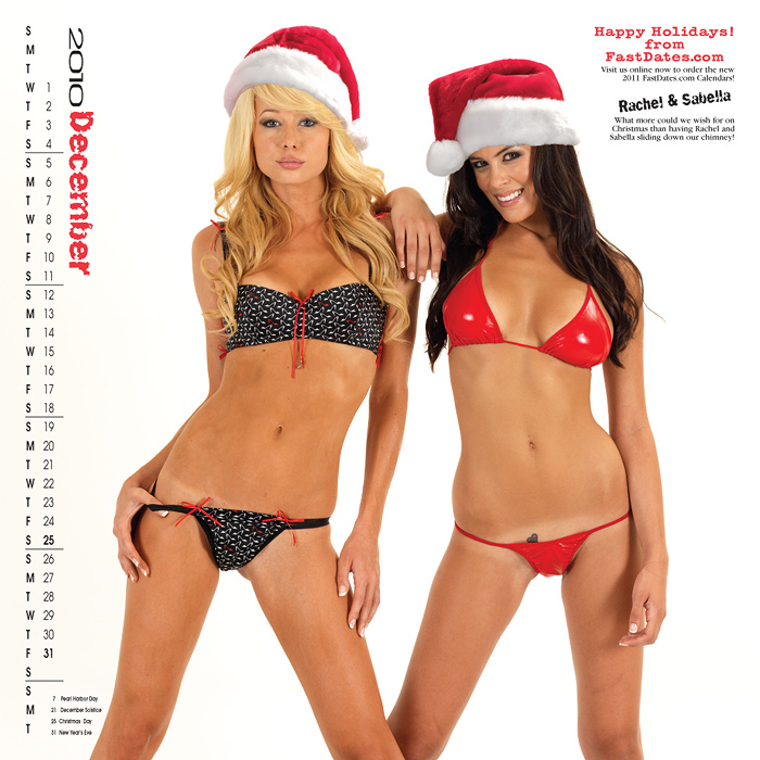 Rachel sabella December Garage Girls Calendar