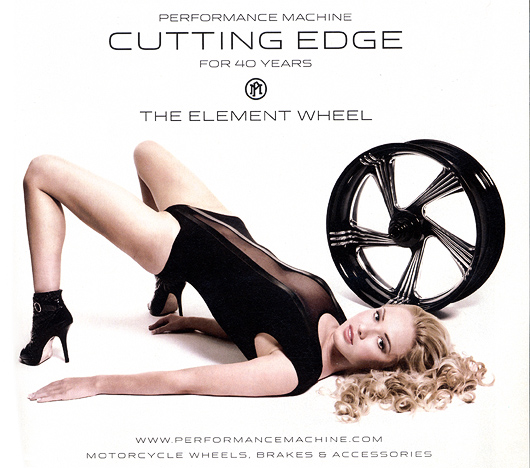 Performance machine Element Wheel girl ad