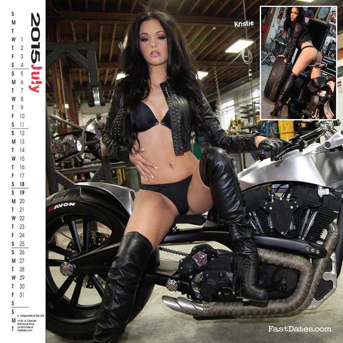 2007 calendar garage girl model pinup