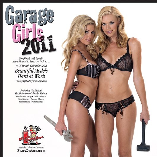 2011 Garage Girls swimsuit and lingerie pinup Calendar