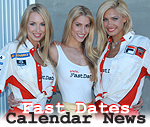 Fast adtes race bike swimsuit calendar