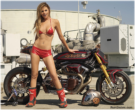 Roland sands, Tamara Witmer Playboy Playmate, No Regrets, Biker Build-Off