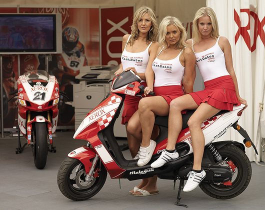 Fast dates Calendar and Ducati Corse grid girls at Brands Hatch World Superbike