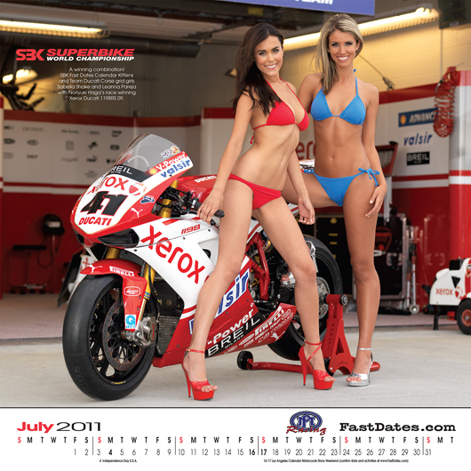 Fast Dates Calendar 2011 Ducati Corse Nori Haga photo
