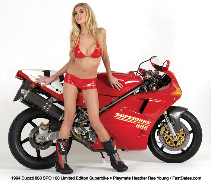 Hather rae Young and ducati 888 SPO photo