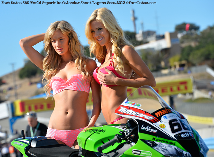 Fast dates Calendar shoot story and photos laguna Seca World Superbike
