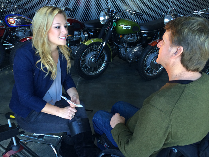 Chriaty Lee, wayne rainey, MotoAmerica AMA Pro Roadracing, CBS Sports TV photo picture