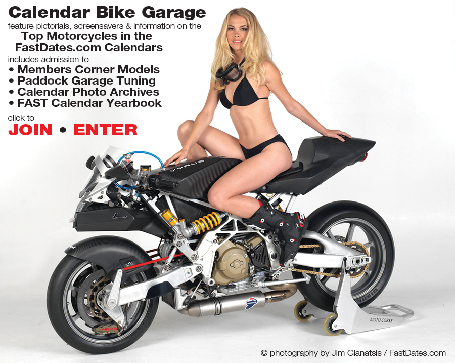 Calendar Bike Garage Custom and Racing