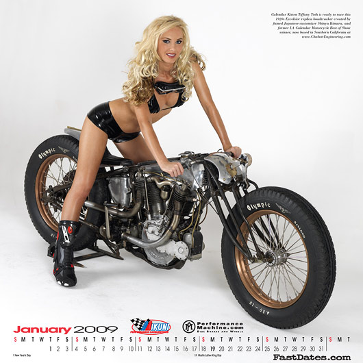 Tiffany Toth, Iron & Lace Calendar 2009