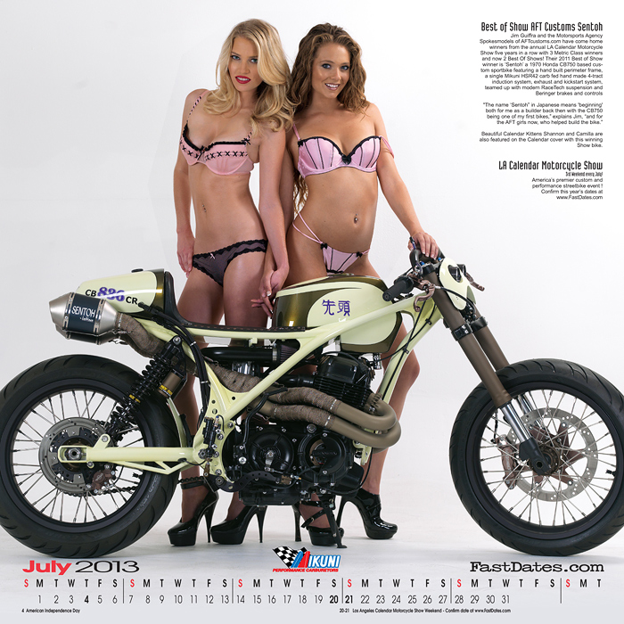 Iron & Lace custom V-twin motorcycle calendar