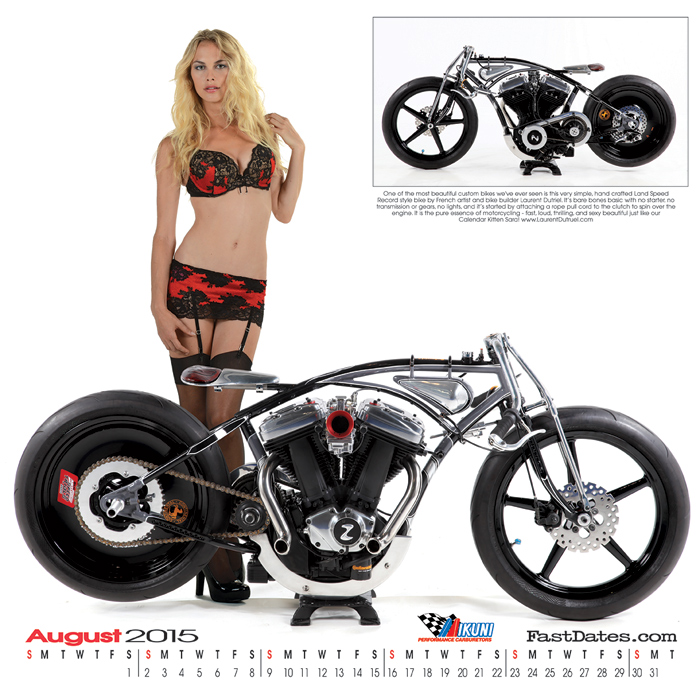 Iron & Lace Calendar motorcycle photo