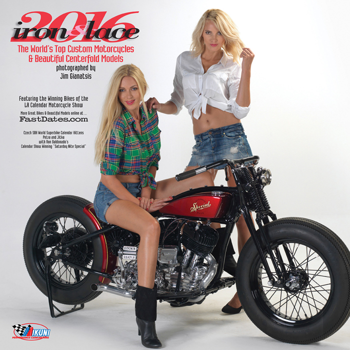 2010 Iron and lace Calendar, Iron & Lace, custom motorcycle calendar, Playboy Playmate
