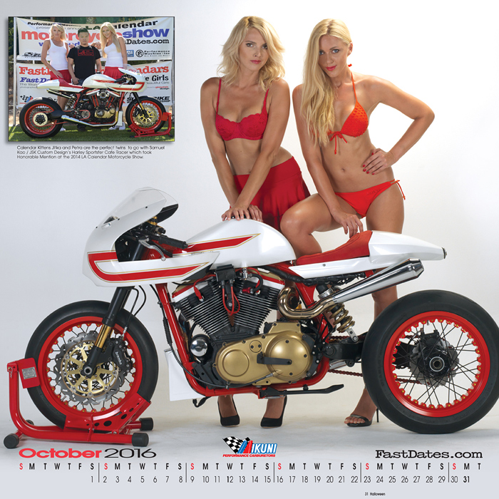 Mercury Customs, Joe ZTaki, Masha Lund, motorcycle calendar, custom bike calendar