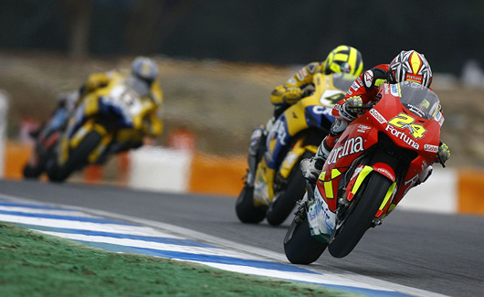 Tony Elias, Valentino Rossi, Kenny Roberts at Estoril