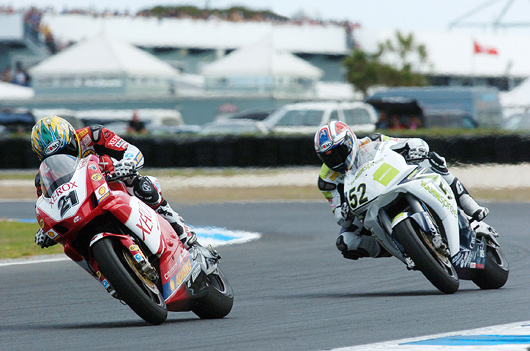 Troy Bayliss and james Toseland