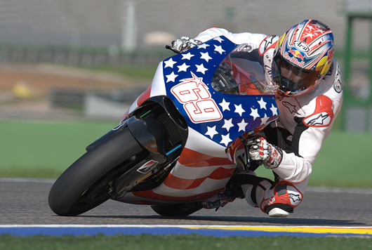 Nicky Hayden Ducati GP09 test