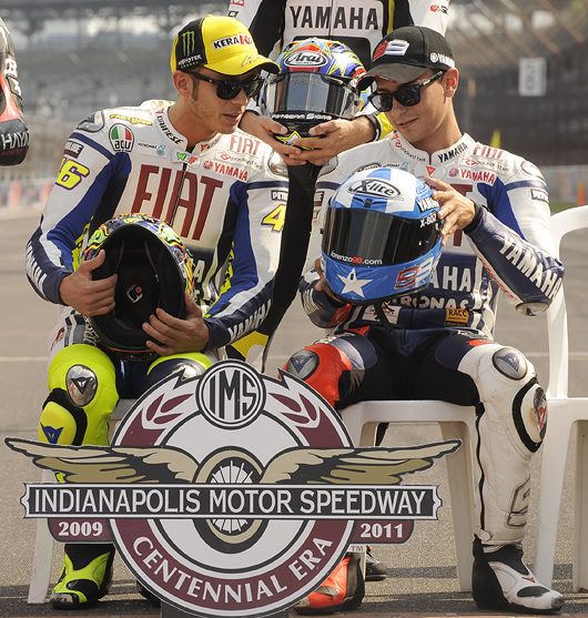 Rossi and Lorenzo at Indianapolis MotoGP