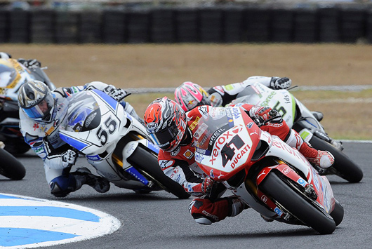 Phillip Island World Superbike race One Haga