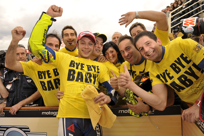 Valentino says goodbye Bye Bye Baby to Yamaha at Valencia