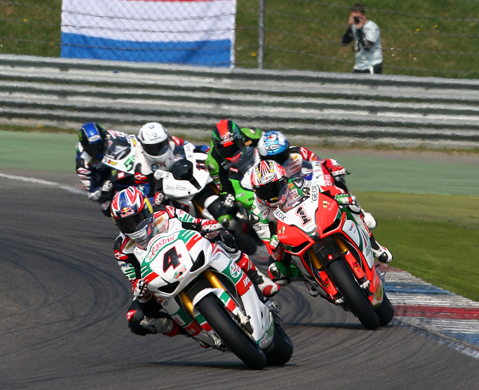 Assen World Superbike action race photo