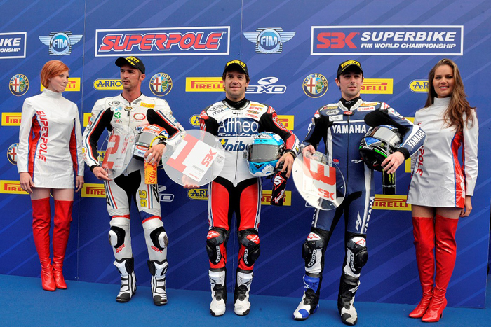 Assen Superpole podium Carlos Checa World Superbike