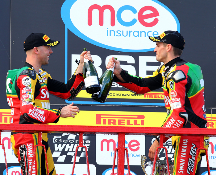 Laverty and Hill British Superbike Championship podium picture photo