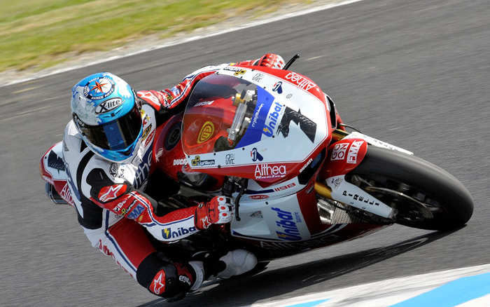 carlos Checa action photo Phillip Island Ducati World Superbike