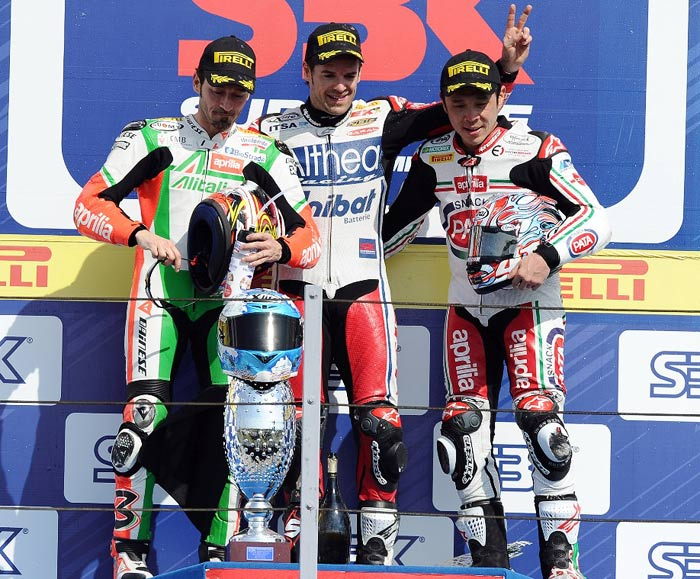 Misano World Superbike podium 2011