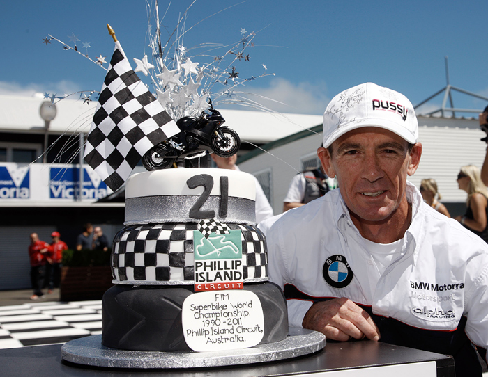 Troy Corser Phillip Island 21st anniversary cake
