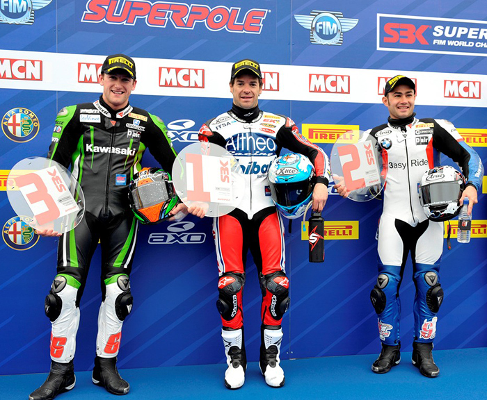 Donnington Englams Superpole riders Superbike