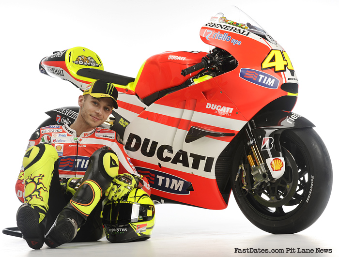 Ducati MotoGP presentation 2011 Wroom Valentino Rossi and GP11 bike motorcycle