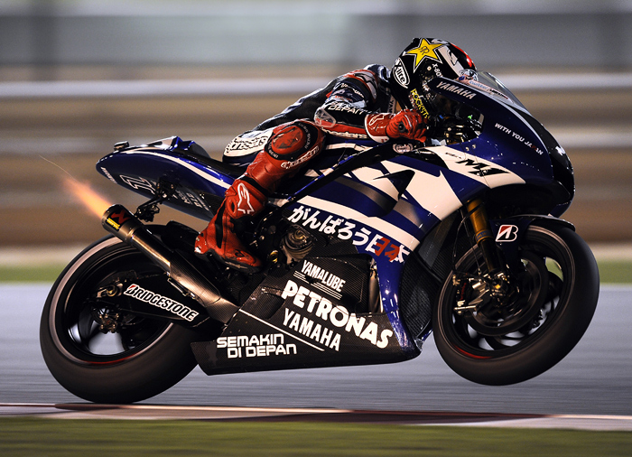 Jorge Lorenzo yamaha Qatar MotoGP action photo picture