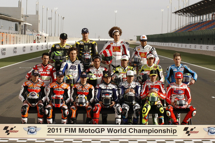 MotoGP riders group picture 2011 Qatar