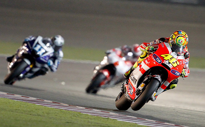 Valentino Rossi Qatar motoGP rce action photo picture