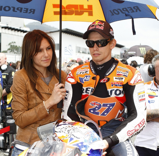 Casey Stoner and wife Andrea