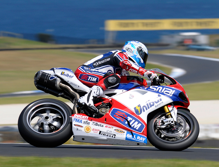 carlos Checa action riding photo Phillip Island 2012 World Superbike