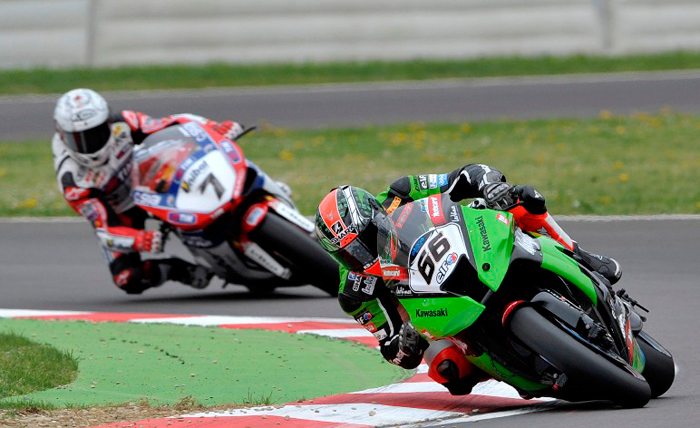 Tom Sykes and carlos Checa at Imola World Superbike
