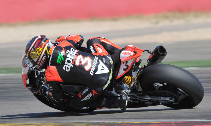 Max Biaggi 17 inch Pirelli Aragon Tire Test World Superbike