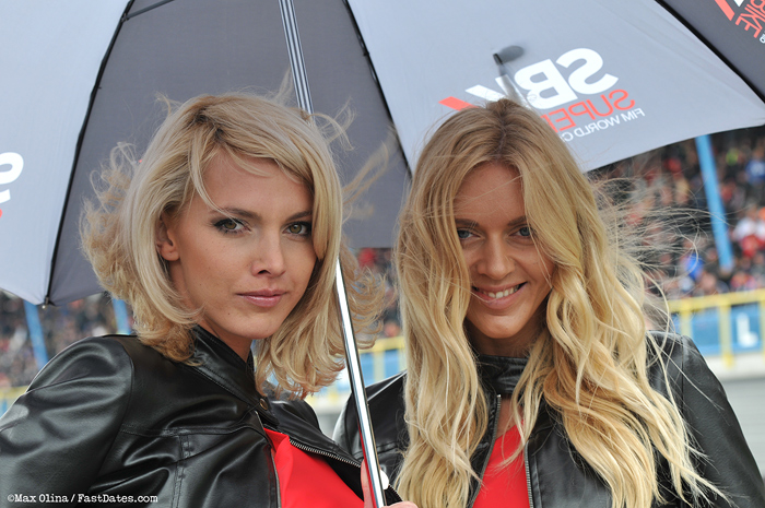 SBK Umbrella girls