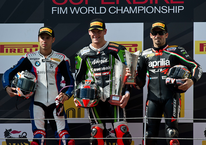 Moscow World Superbike podium