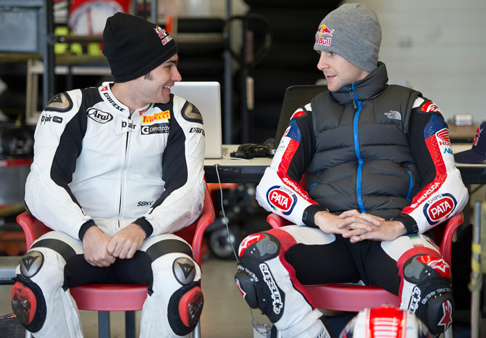 Leon Haslam, Jonthan Rea Honda Pata team world superbike photo