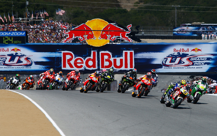 Laguna Seca MotoGP start photo 2013