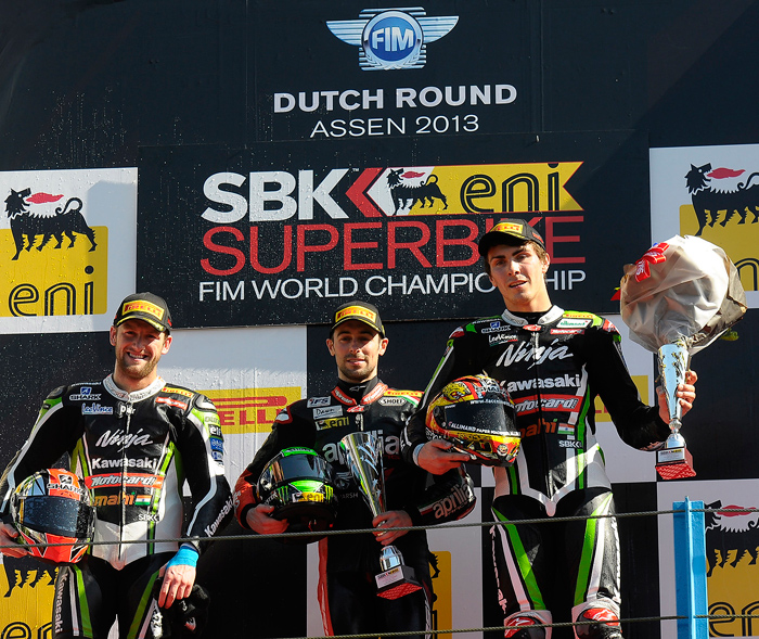 World Superbike podium Araron 2013 photo
